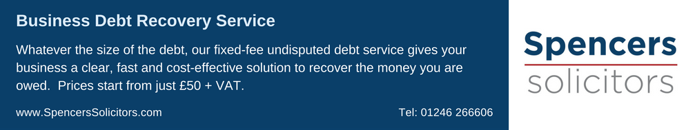 Spencers Solicitors' Debt Recovery Service Advert