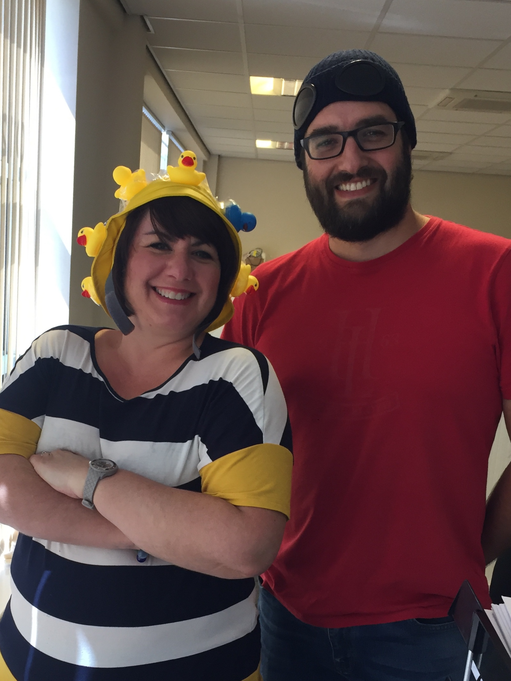 Hats for Headway - Lynn & Rob