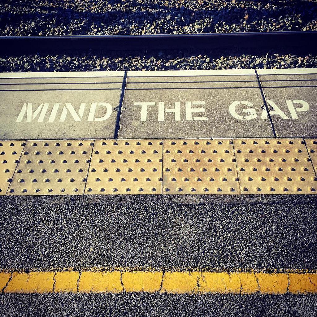 Mind the Gap - Train Station Platform Warning