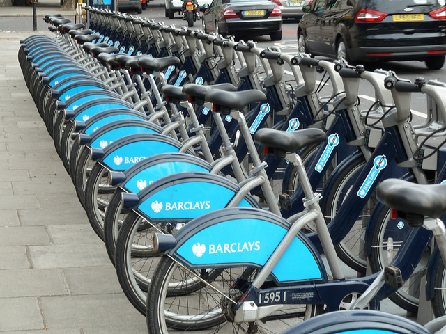 Row of Bicycles in London