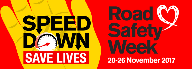 Speed Down, Save Lives Poster